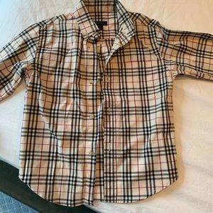 Boys Burberry Button down shirt